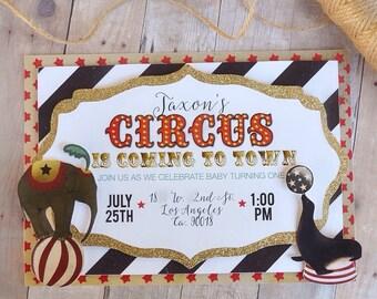 Circus Layered Invitations