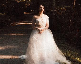 Gloria Tulle Wedding Skirt / Two Piece Wedding Dress / Bridal Separate / Ethereal Tulle / Organic Cotton Lining / Boho Skirt