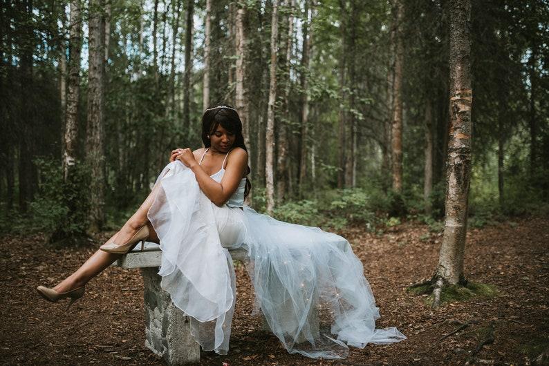 Princess Bridal Crown  Small Wedding Tiara  Rhinestones and beading