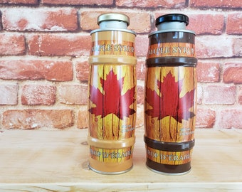 NUCAN 16.9 oz of Pure VT Maple Syrup AND Water Bottle