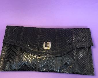 c9a06b77fd3e Louis Feraud vintage handbag snake leather perfect for event