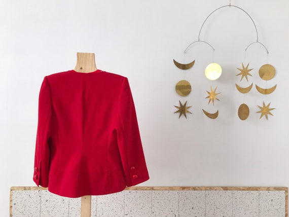 Givenchy beautiful vintage 60's style red wool wo… - image 4