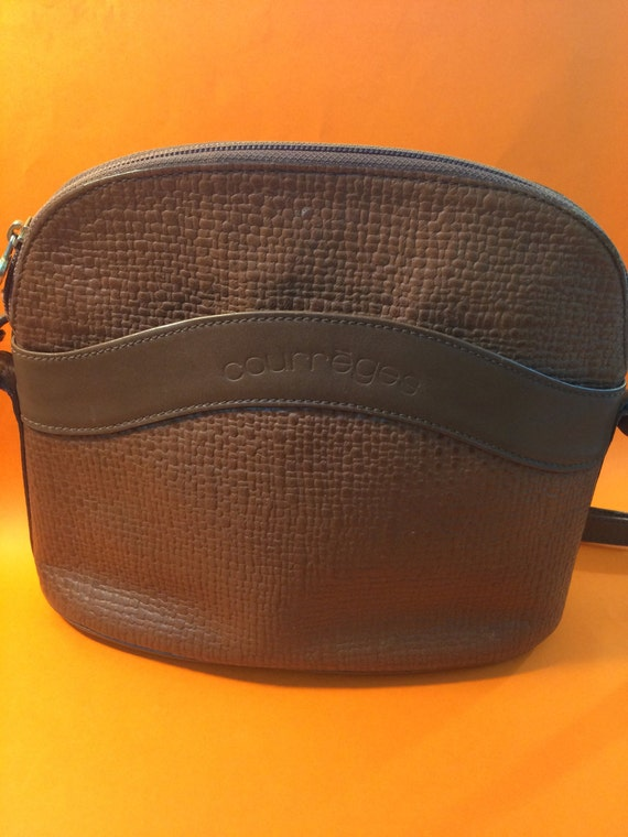 aa141fc955be Courrèges Vintage bag brown 90 s crossbody bag ideal for