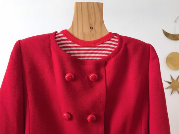 Givenchy beautiful vintage 60's style red wool wo… - image 3