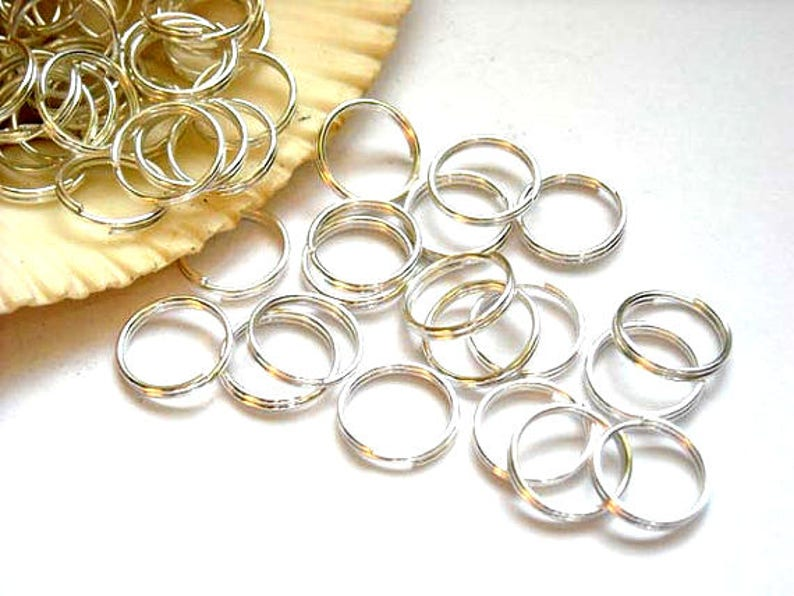 No.177 100pcs of Gold Plated Double Loops Split Open Jump Rings 8mm