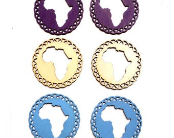 2 Wooden Africa Pendant/Charms - 32-9