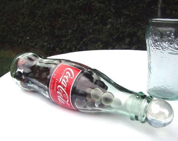 Coca Cola Retro Bottle Marble Paperweight Kitsch Etsy