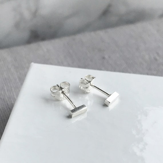 tiny silver twig bar studs \u2022 Sterling Silver tiny studs \u2022 Sterling Silver earrings \u2022 minimalist \u2022 tiny studs \u2022 tiny earrings \u2022 hippie \u2022 boho