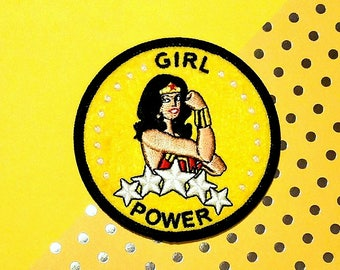 Girl Power - Wonder Woman - We can do it! - Rosie the riveter feminist patch