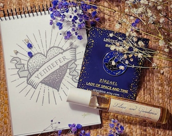 Limited Edition Bundle set - Lilacs and Gooseberries Yennefer Perfume + The Witcher Notebook + Ciri Pin - The Witcher