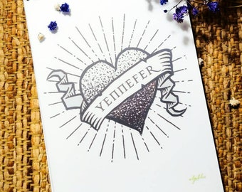 Yennefer of Vengerberg notebook - A5 non lined - The Witcher stationery