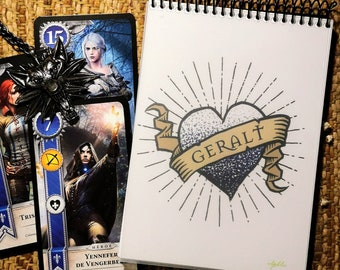 Geralt of Rivia notebook - A5 non lined - The Witcher stationery