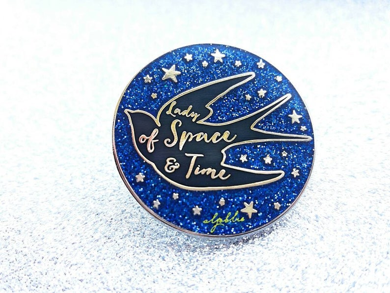 Lady of Space and Time Pin   Swallow Pin image 0