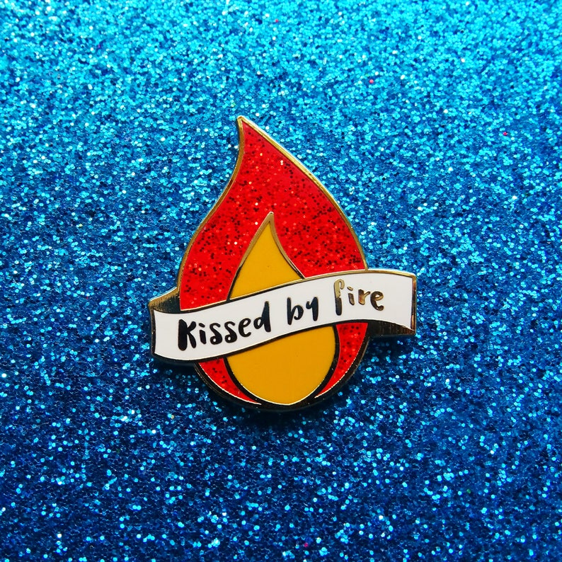 Kissed by Fire  Enamel Pin image 0