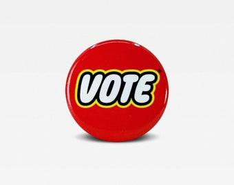 Vote Election Button - Vote Button - Voter Button - Voting Button - Vote Pin - Voting Pin - Voter Pin