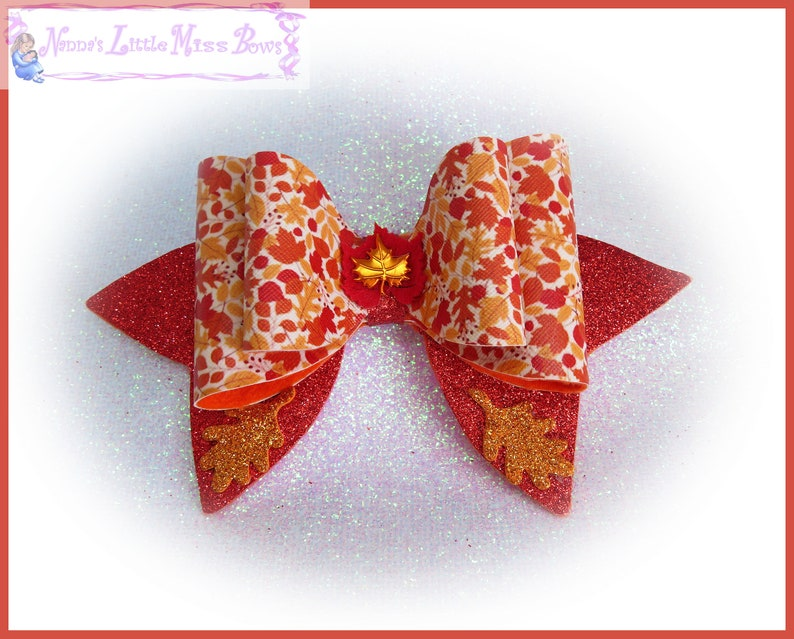 Autumn Bows Mustard Bow Fox Bow Party Bow Autumn Accessories