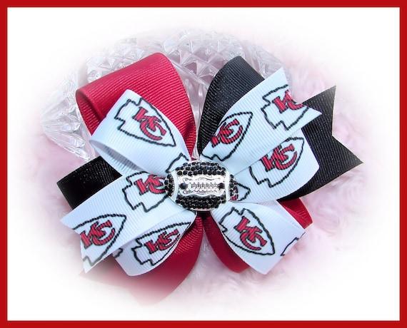 Girl Hair Bow Gift For Girl Gift For Toddler Football Hair Bow, Unique Hair Bow Chiefs Hair Bow Toddler Hair Bow