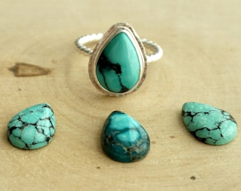 Choose Your Stone and Size - Hubei Turquoise Stacking Ring
