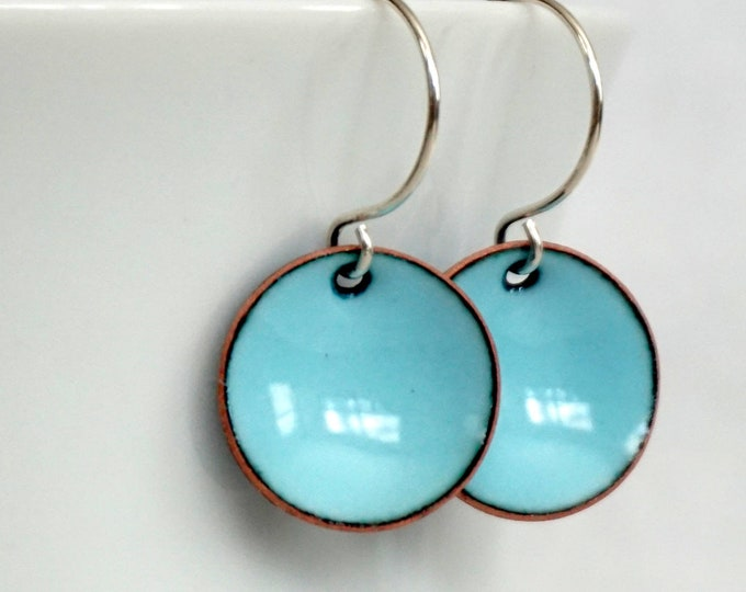 Featured listing image: Robin's Egg Blue Enamel Earrings