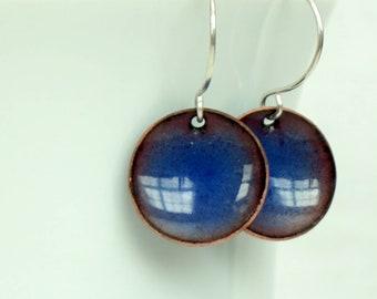 Cornflower Blue Enamel Earrings