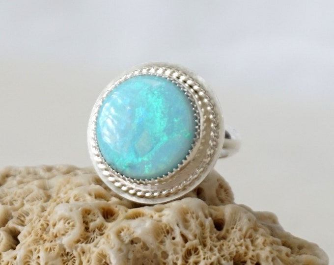 Featured listing image: Atlantis Opal Statement Ring, size 6 1/4