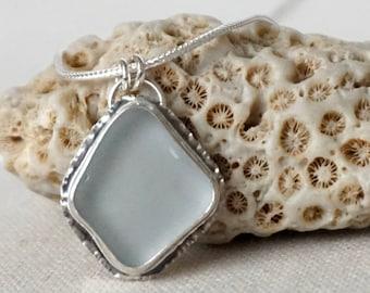 Light Lavender Sea Glass Pendant - Natural Sea Glass, Genuine Sea Glass, Sea Glass Necklace, Sea Glass Jewelry, Beach Glass Jewlery Necklace