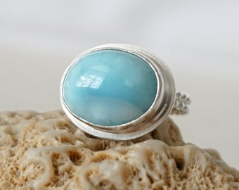 Larimar Oval Statement Ring, Size 6 3/4