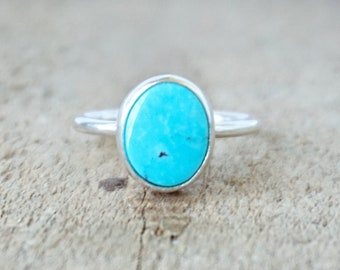 Turquoise Stacking Ring, Size 6