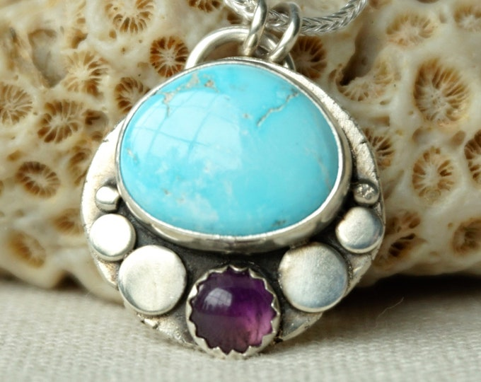 Featured listing image: Blue Ridge Turquoise and Amethyst Pendant