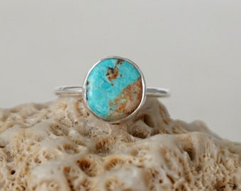 Turquoise Stacking Ring, Size 7 1/4
