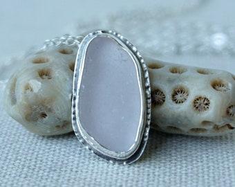 Light Lavender Sea Glass Pendant