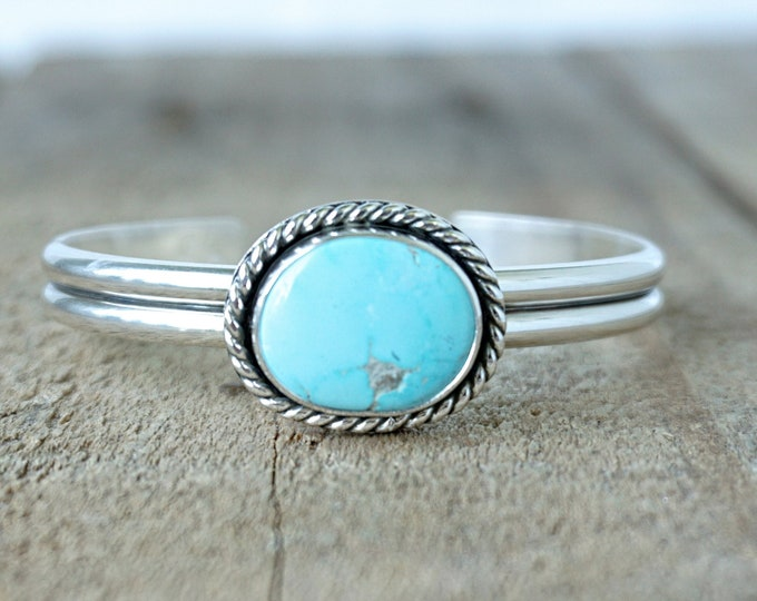 Featured listing image: Turquoise Sterling Silver Cuff Bracelet