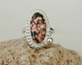 Ocean Jasper Statement Ring, Size 7 3/4