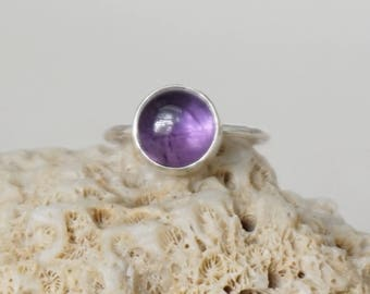 Amethyst Stacking Ring, Size 7 1/4