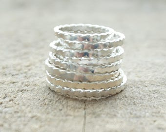 Sterling Silver Twist Band Ring