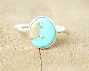 Turquoise Stacking Ring, Size 8