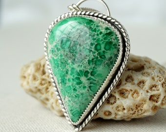 Lucin Variscite Statement Necklace