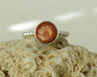 Sunstone Stacking Ring, Size 7 1/2