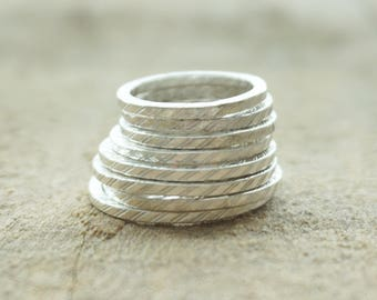 Sterling Silver Sqaure Stacker Ring