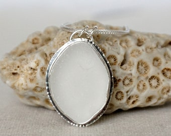 Clear Sea Glass Pendant