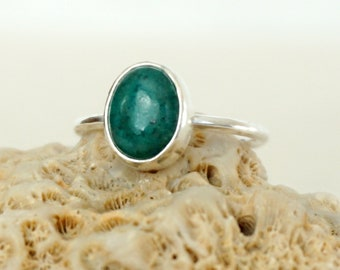 Choose Your Size and Band - Chrysocolla Stacking Ring