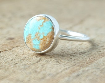 Turquoise Stacking Ring, Size 9 1/2