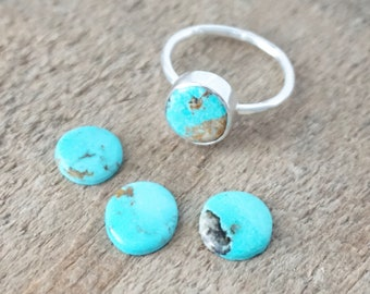 Choose Your Size and Band - Turquoise Stacking Ring