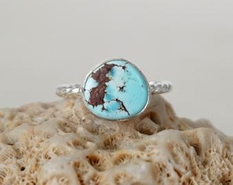 Kazakhstan Lavender Turquoise Stacking Ring, Size 6