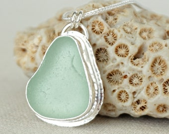 Seafoam Green Sea Glass Pendant