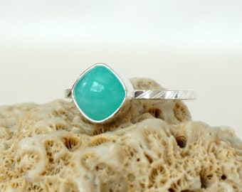 Choose Your Size and Band - Amazonite Stacking Ring