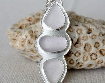 CLEARANCE - Light Lavender Sea Glass Pendant