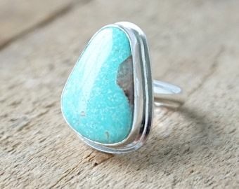 Turquoise Statement Ring, Size 6 1/2