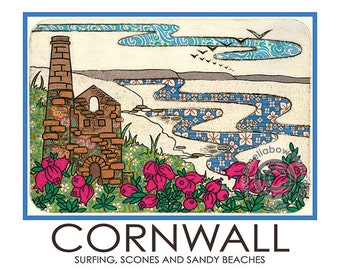 Cornwall A5 Postcard Wheal Coates Engine House North Coast West Country Heather