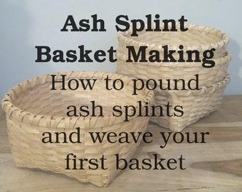 Ash splint basket making instruction booklet